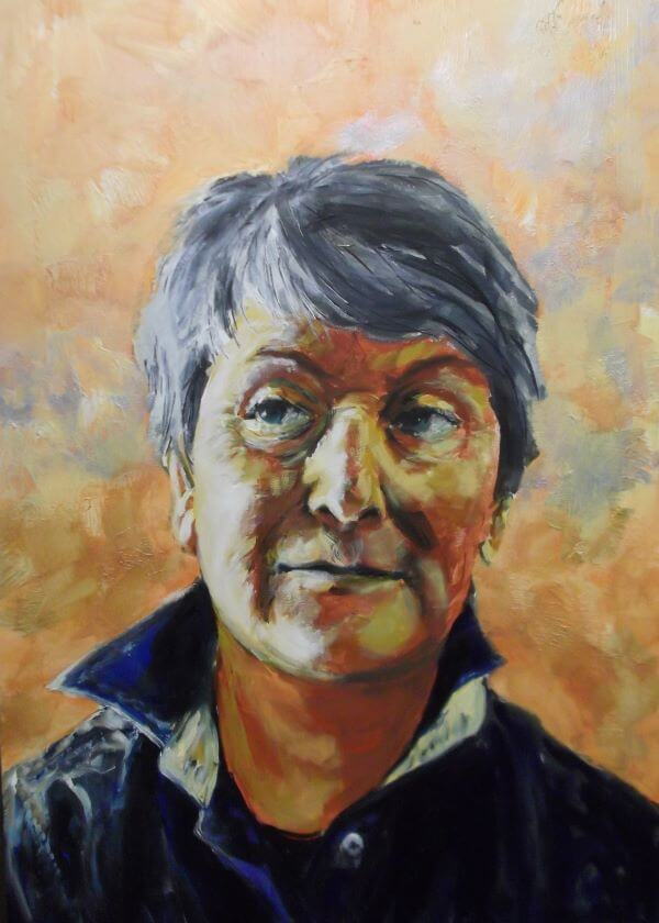 Finalist in 2014 Pt Pirie Art Prize, Jane Fargher painted by Philip David