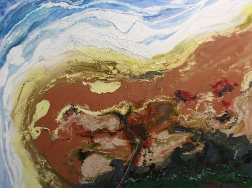 Finalist in 2015 Solar Art Prize, Coorong Mouth - Natural Wonder painted by Philip David