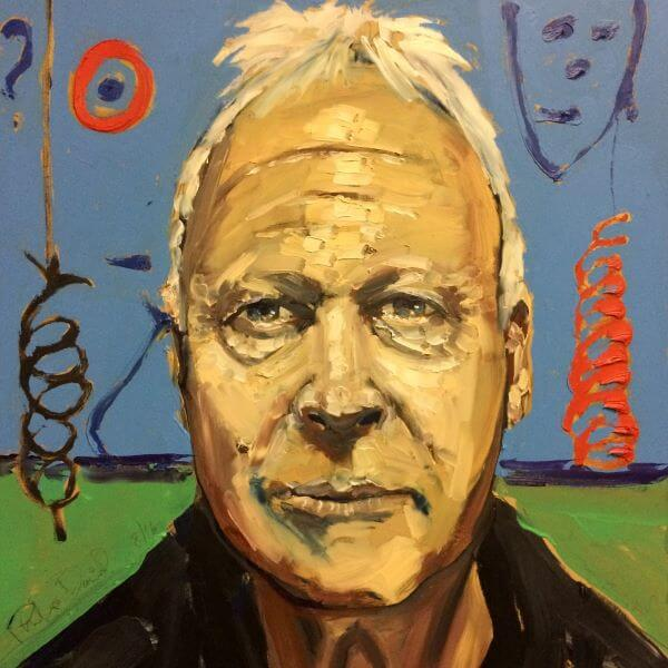 Finalist in 2017 Who is looking at you, Self Portrait - My most forgiving sitter painted by Philip David