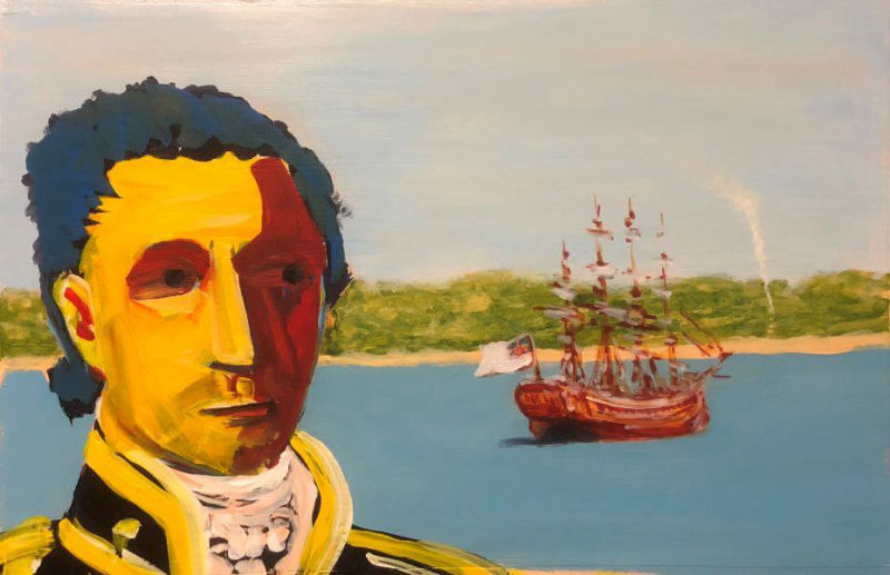 Flinders thought he was the first to know Australia's coastline painted by Philip David