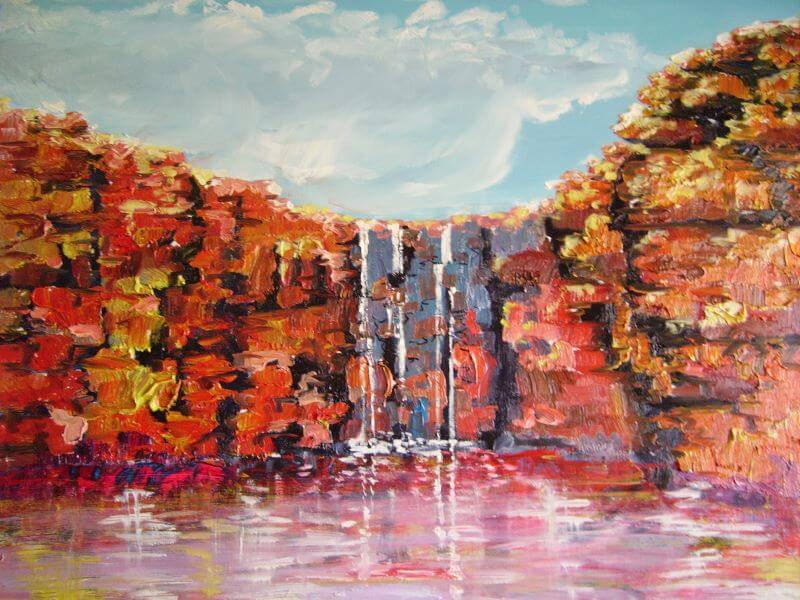 Katherine Gorge painted by Philip David