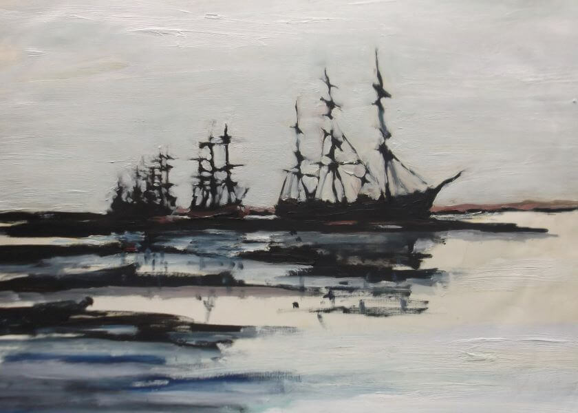 Sailing ship painted in 1990 (4) by Philip David