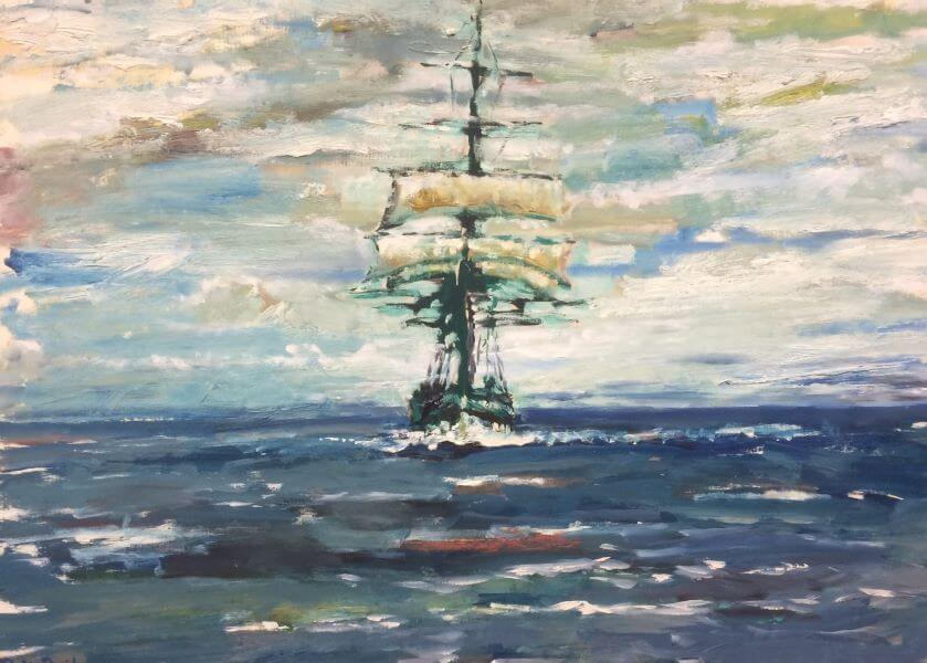 Sailing ship painted in 1990 (3) by Philip David