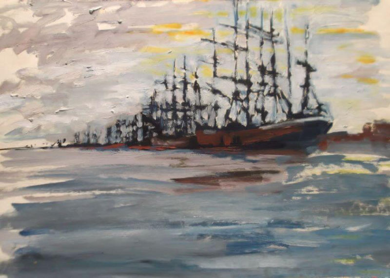 Sailing ship painted in 1990 (5) by Philip David